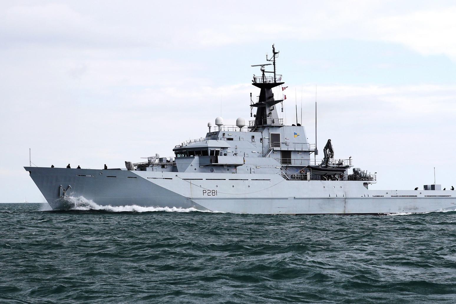 ROYAL NAVY MONITORS RUSSIAN SHIP THROUGH ENGLISH CHANNEL