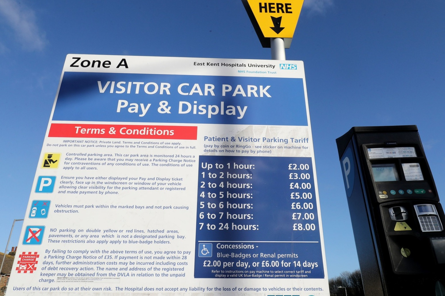 FREE PARKING FOR SOME NHS PATIENTS AND VISITORS TO BE ROLLED OUT