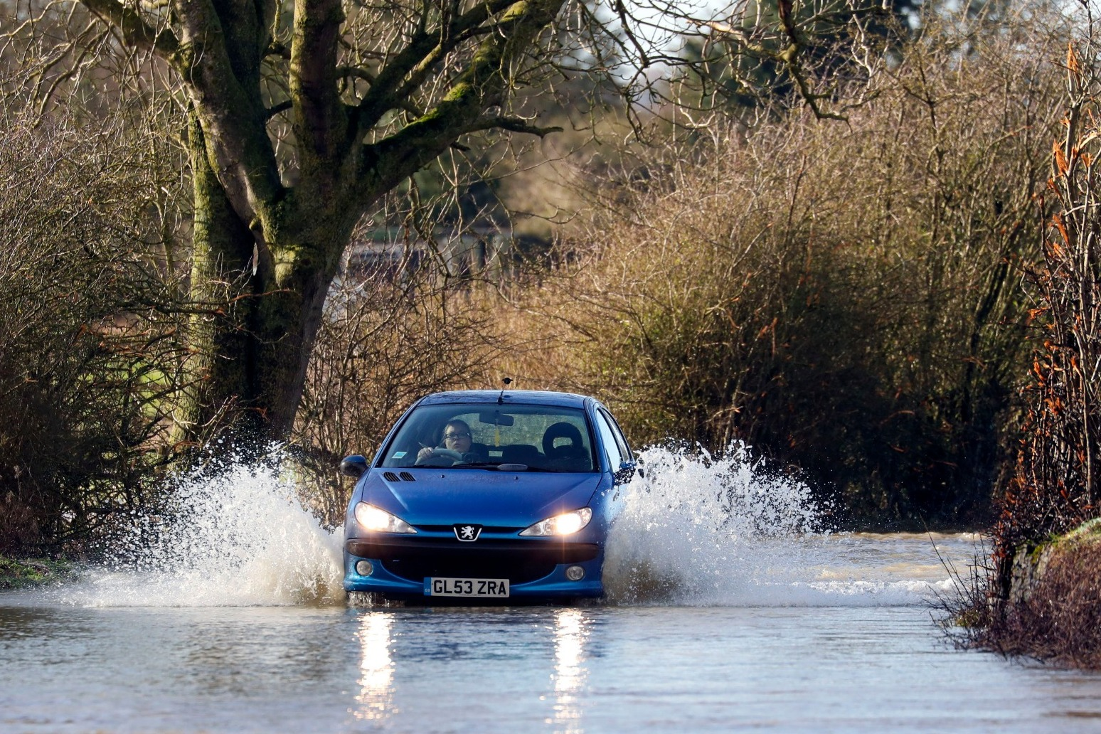 Cars submerged amid flooding after Storm Brendan