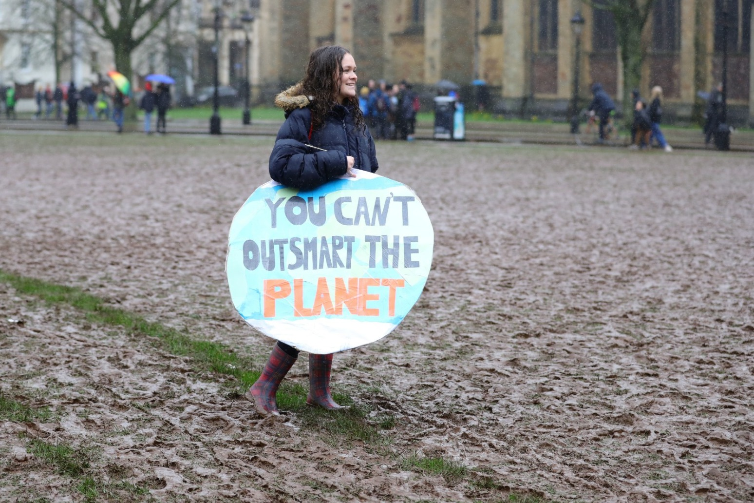 Teenage climate activist Greta Thunberg addresses protests in Bristol