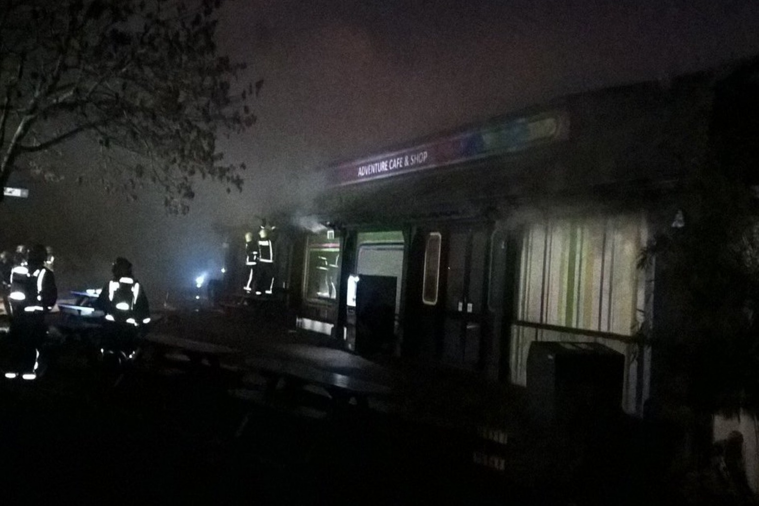 Firefighters tackle blaze at London Zoo