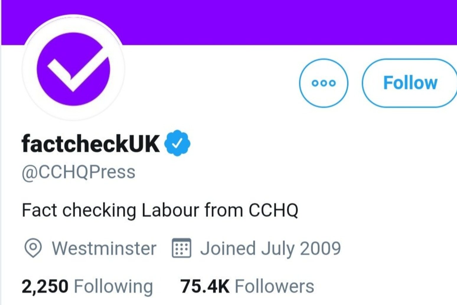 TORIES CRITICISED AFTER REBRANDING PARTY TWITTER ACCOUNT ASFACTCHECKUK
