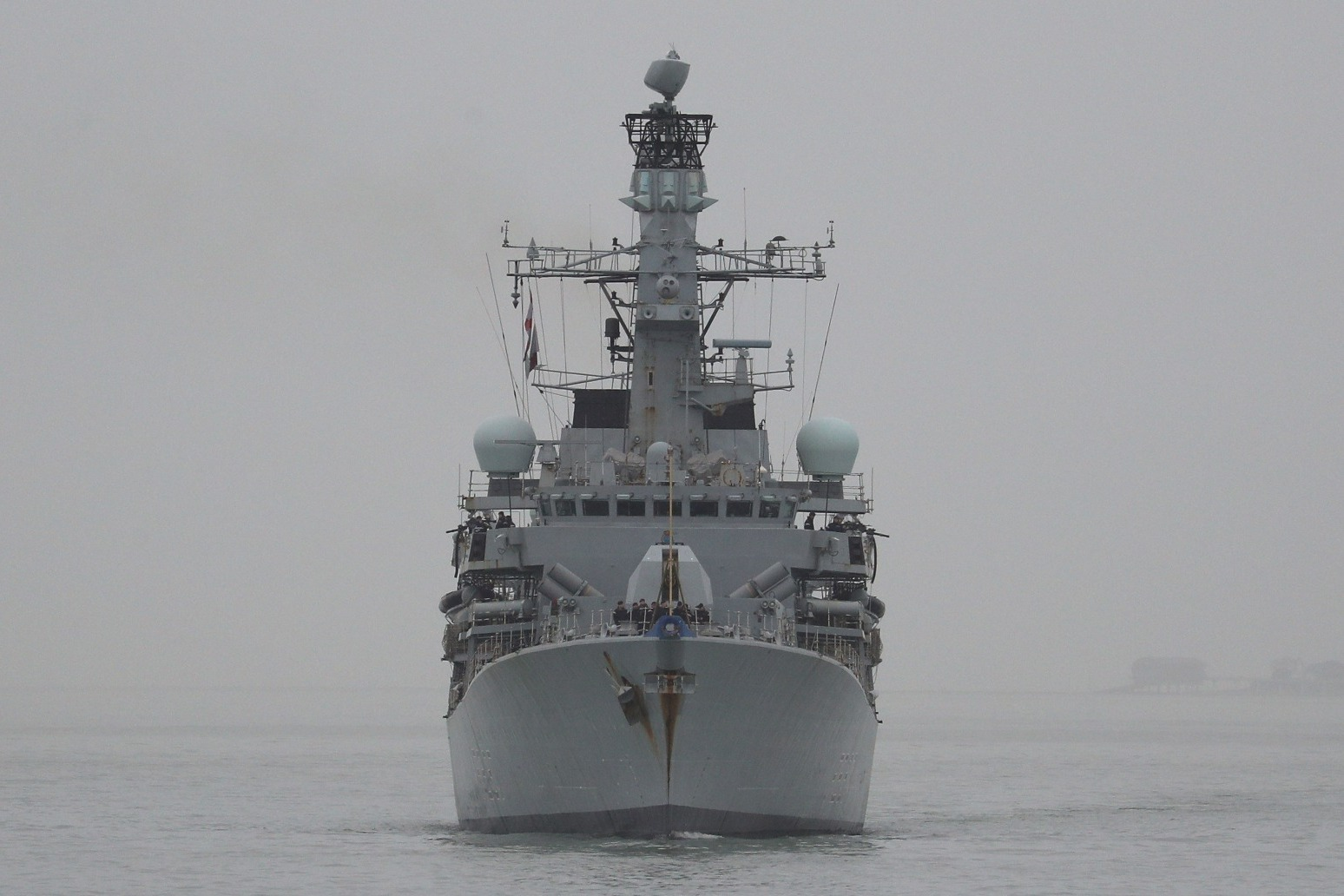 HMS Westminster shadows Russian destroyer in channel sailing