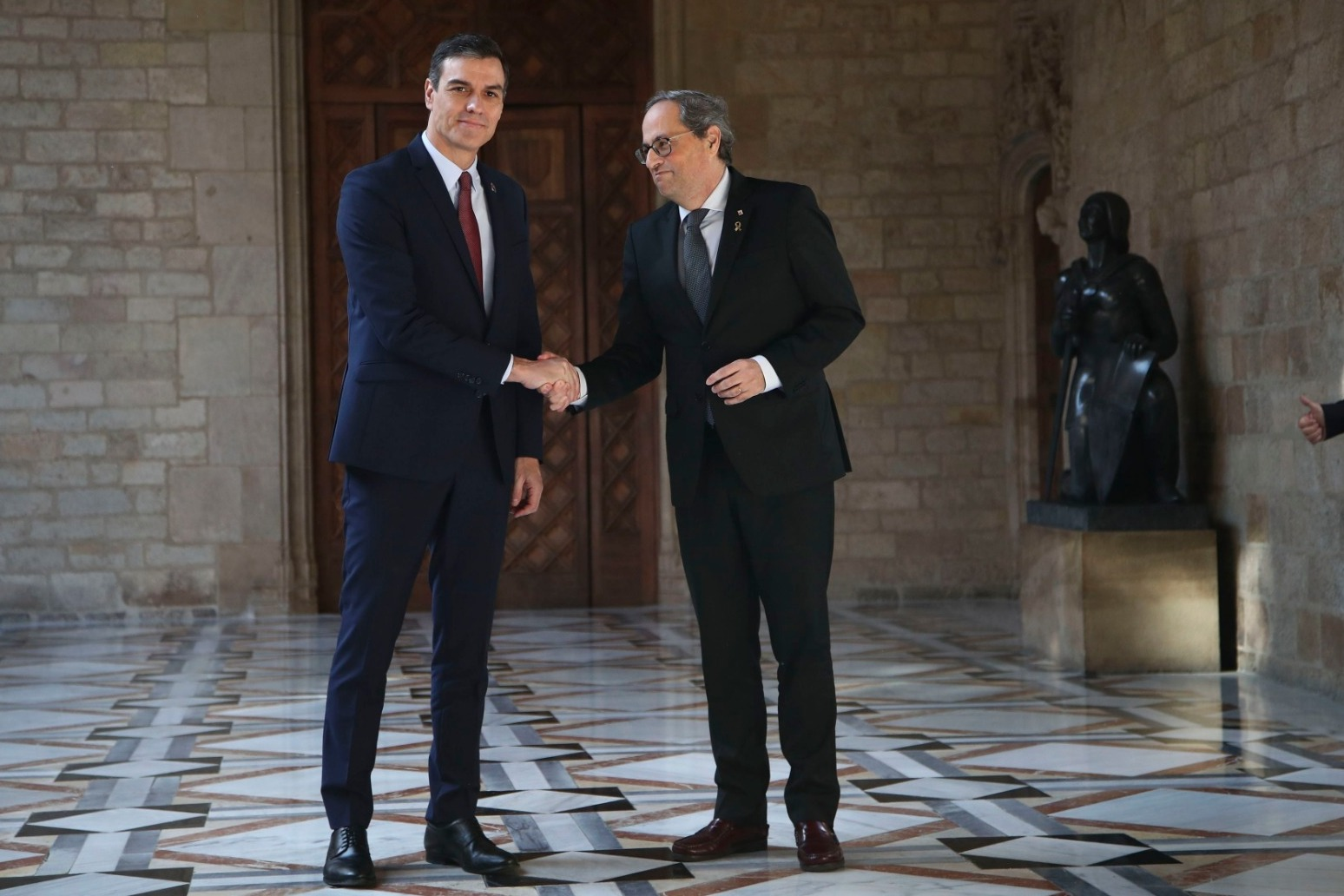 Spain\'s Prime Minister has met with the Catalan leader