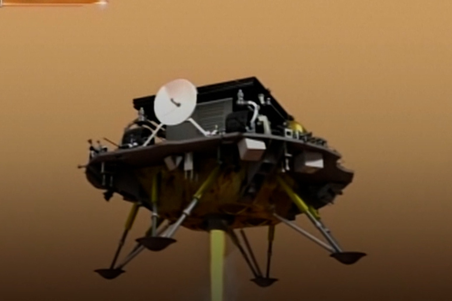 China lands spacecraft on Mars for the first time