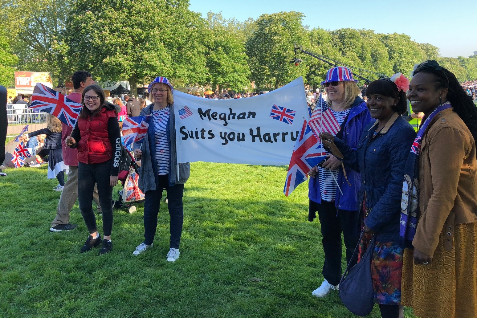 Thousands gather for the Royal Wedding in Windsor