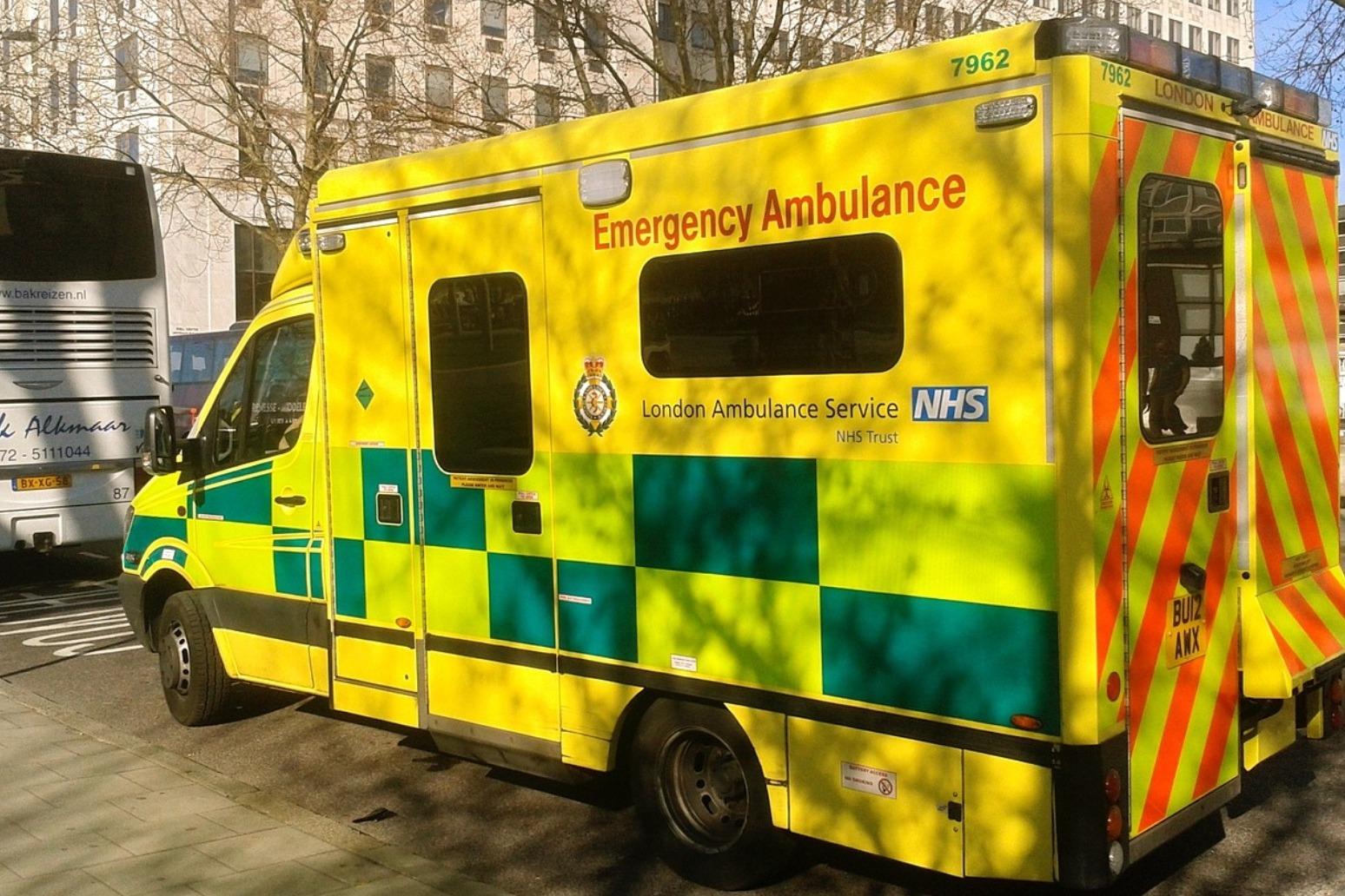 Girl dies after collision with ambulance