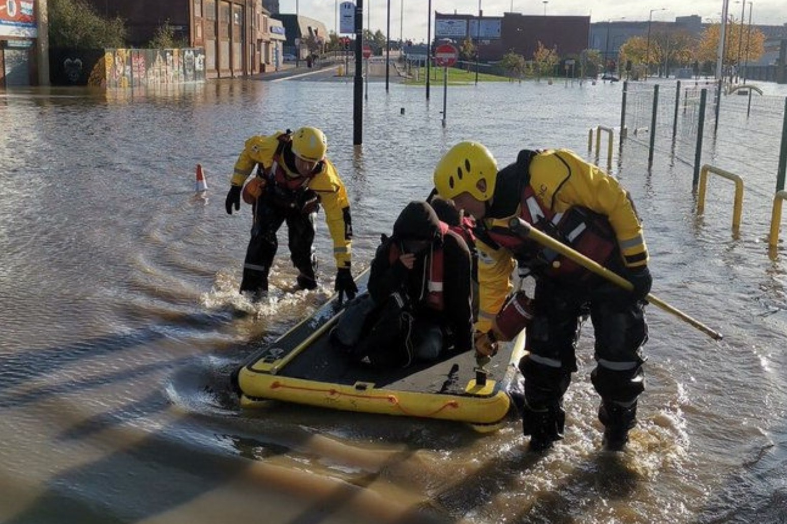 BORIS JOHNSON URGES PEOPLE IN FLOOD HIT AREAS TO HEED EMERGENCY SERVICE ADVICE