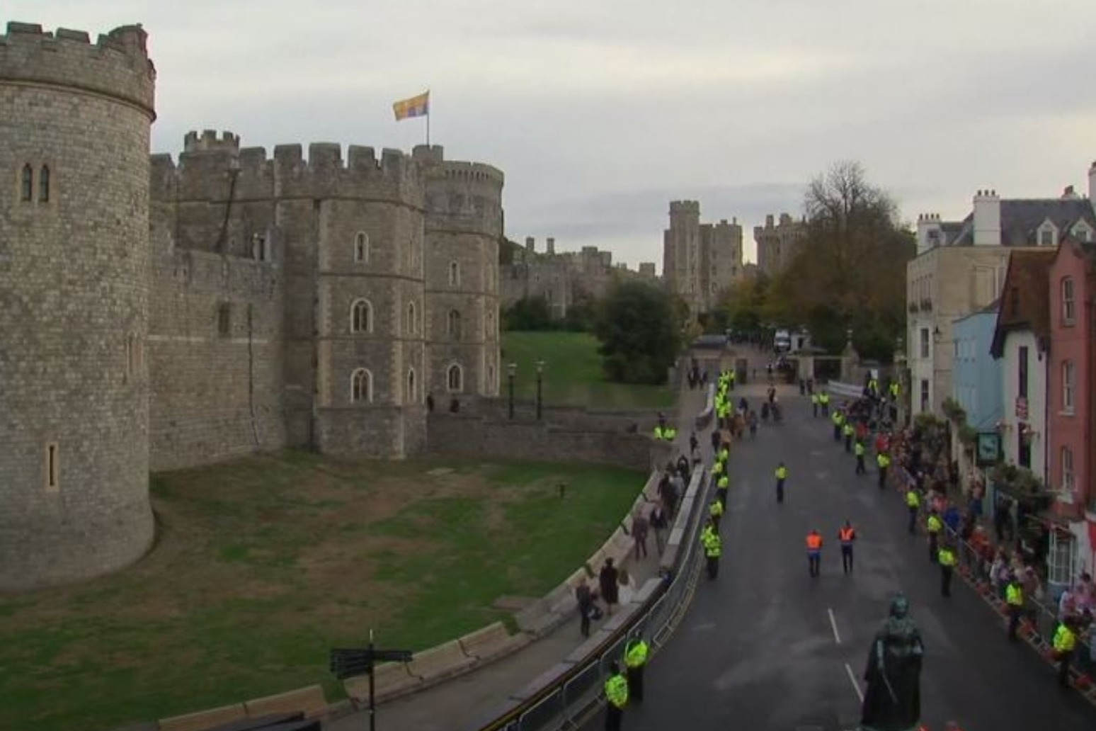Crowds gather in Windsor ahead of second Royal Wedding of the year